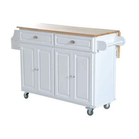 kitchen island rolling cart aosom homcom kitchen island modern rolling storage