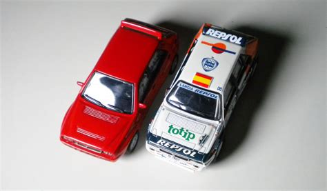 1 64 Kyosho Fiat Lanica Minicar Collection Fiat Coupe Yellow Die Cast kyosho fiat lancia minicar collection lancia delta hf