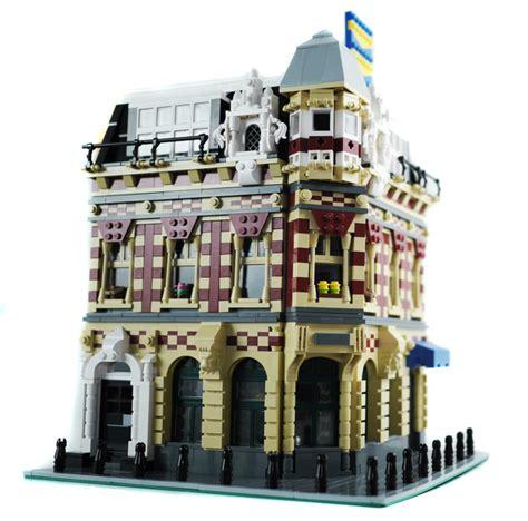 lego hotel tutorial purchase custom lego instructions corner shop and apartments