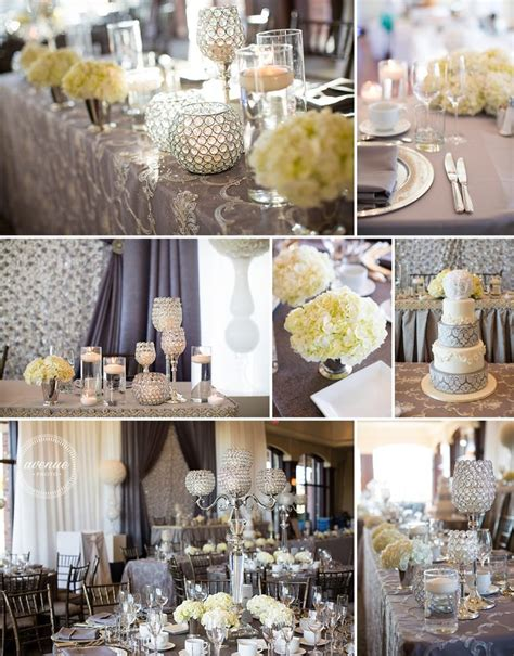 grey and silver wedding theme