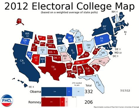 map of us electoral votes frontloading hq the electoral college map 7 17 12