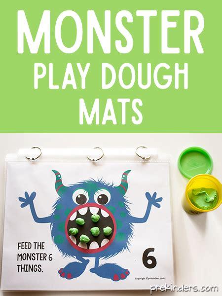 printable playdough math mats monster play dough math mats prekinders