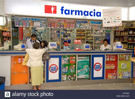 Pharmacy Countertops by Pharmacy Counter In Santiago Chile Stock Photo Royalty