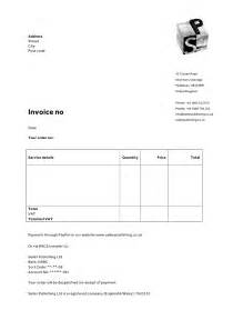 Uk Invoice Templates by Invoice Letterhead Templates For Therapists Websites