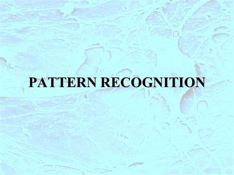 pattern recognition overview ppt pattern recognition ppt scaricare