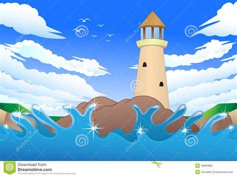 cartoon boat on the sea cartoon sea boat stock illustration illustration of ocean