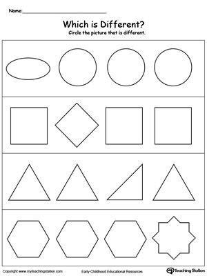 Sorting Shapes Worksheets