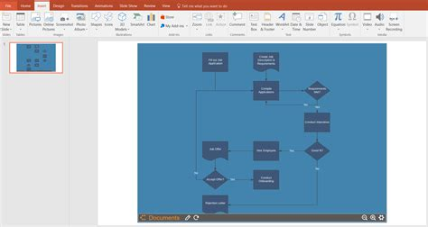 how to make flowchart in powerpoint creating flow charts in powerpoint analysis of library