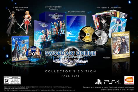 Cd Playstation Ps4 Sword Hollow Realization R3 sword hollow realization collector s edition