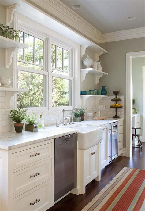 kitchen sink window ideas kitchen stuff plus on pinterest open shelves white