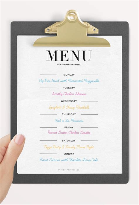 9 dinner party menu templates design templates free