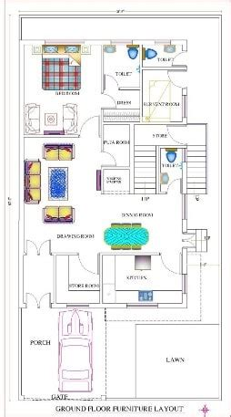 double storey house design plan  sqft west