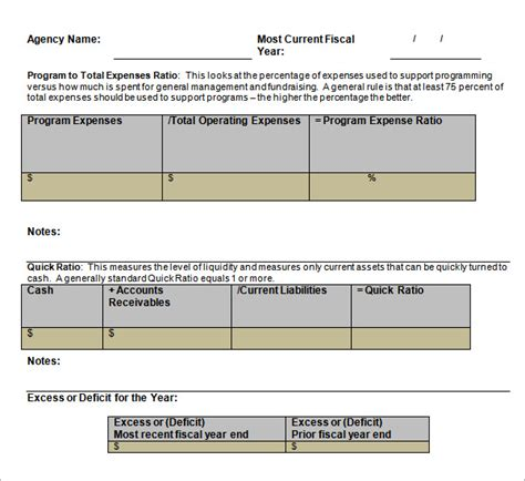 financial analysis template sle financial analysis 4 documents in excel word