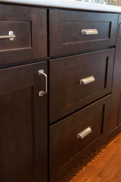 Brushed Nickel Hardware For Kitchen Cabinets by Brushed Nickel Hardware On Shaker Cabinets