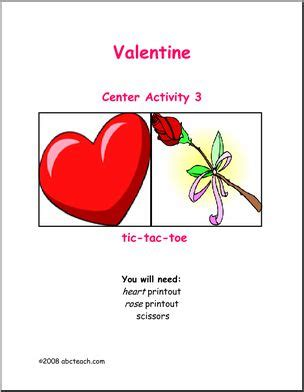 valentines center learning center s day tic tac toe abcteach
