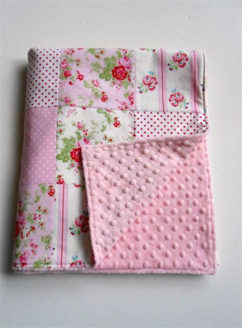 Patchwork For Babies - minky baby patchwork quilt blanket by