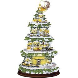 pittsburgh steelers village christmas tree the danbury mint