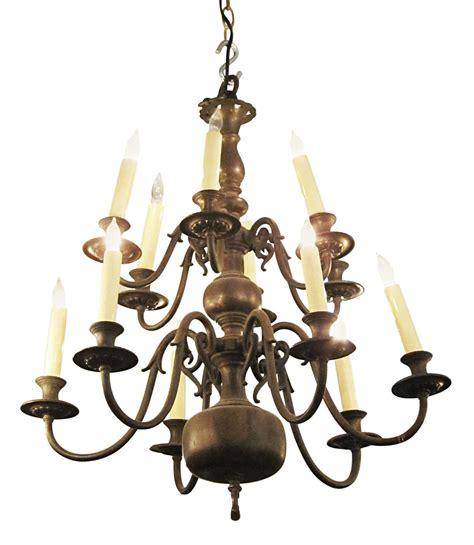 Colonial Style Chandelier 1900s American Made Colonial Style Twelve Light Chandelier For Sale At 1stdibs