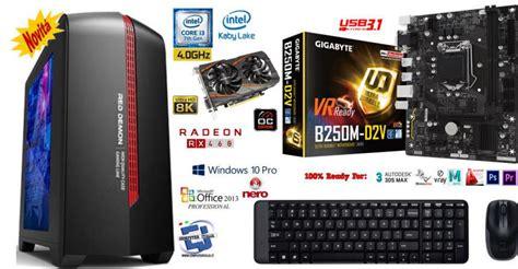 Paket Pc Cpu Rakitan Gaming Intel I3 3 10 Ghz Rx 460 2gb D5 New offerte pc gaming i3 7300 4 0ghz 8gb ram sk 2gb computer professionale roma http www