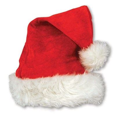 red velvet santa hat with plush trim partycheap