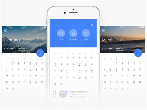 calendar layout iphone flat ui color palette sketch freebie download free