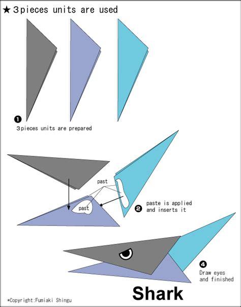 How To Make A Origami Shark - origami shark