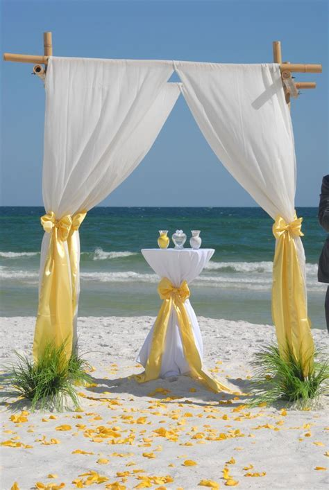 25  best ideas about Yellow beach weddings on Pinterest