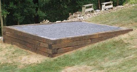Shed Base On A Slope by A Shed Sheds And Foundation On