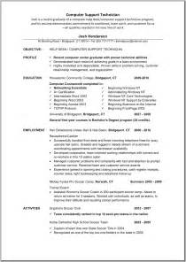 Sle Resume Desktop Support Technician Sle Resume For Bcom Computers 28 Images Sle Of A Resume For Software Development Project