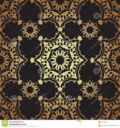 ottoman motifs decorative seamless pattern in ottoman motif stock vector