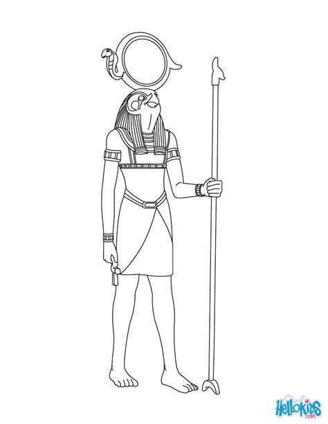 free coloring pages egyptian gods re horakhty egyptian god free online coloring pages