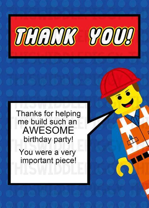 Lego Thank You Cards