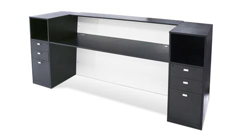 Acrylic Reception Desk Clinton Reception Desk In Black Oak With White Acrylic Front Zuri Furniture