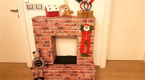 come realizzare un camino come costruire un camino natalizio con delle scatole di