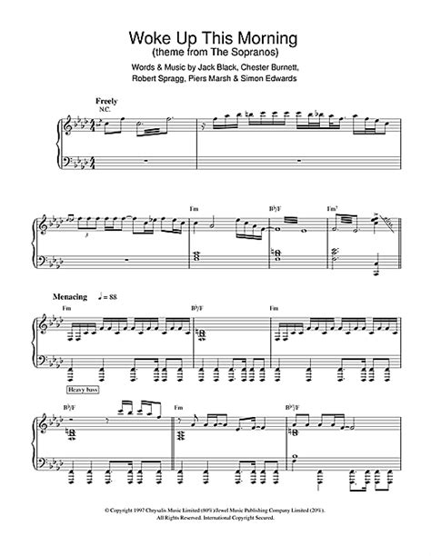 theme music sopranos woke up this morning theme from the sopranos sheet music