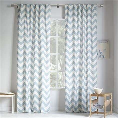 West Elm Zigzag Curtain Inspiration Cotton Canvas Scribble Lattice Curtain Midnight Blue West Elm