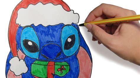 imágenes de navidad para dibujar fáciles dibujos de navidad stich navide 209 o paso a paso dibujos
