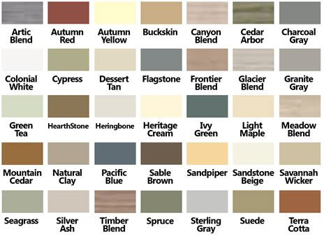 vinyl siding color chart certainteed vinyl siding color chart with vinyl siding