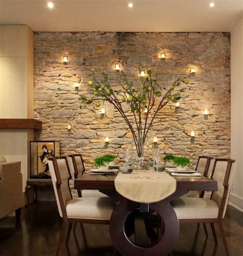 stone wall in living room deciding on the perfect accent wall shade for your dining