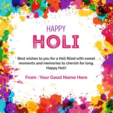 write name on happy holi wishes in english write name on