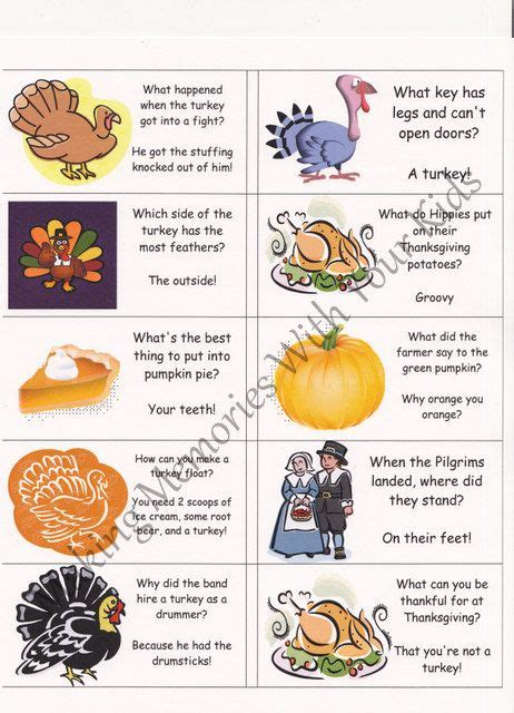 printable thanksgiving jokes and riddles lunch box jokes lunch boxes and jokes on pinterest