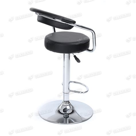 Chrome Swivel Bar Stools With Back | black low back barstool chrome swivel breakfast kitchen