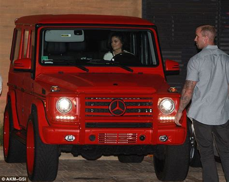 mercedes g wagon red kylie jenner gets her red mercedes benz g class wrapped