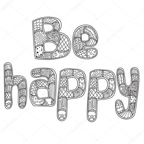 imagenes para colorear word dibujos para colorear libro de adultos palabra ser feliz
