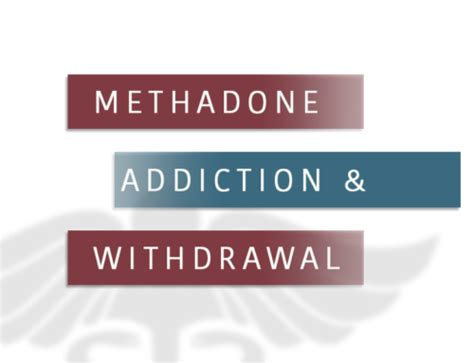 Methadone Detox Massachusetts by Understanding The And Abuse Stages