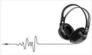 elements of headphones vector set 05 vector music free