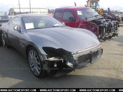 Salvage Maserati by Damaged Salvage Maserati Granturismo Car For Sale