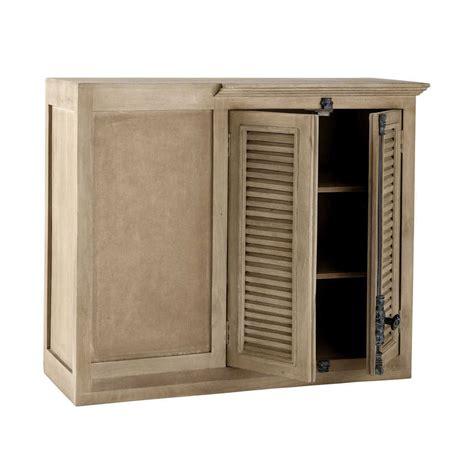 meuble d angle haut cuisine meuble haut d angle de cuisine en manguier l 100 cm