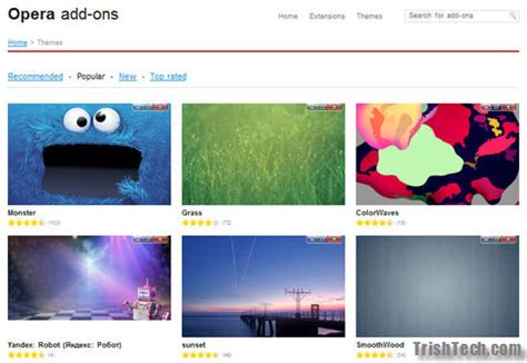 Opera Themes Gallery | image gallery opera web browser theme