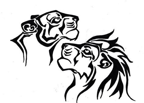 lioness tribal tattoo design by navina on deviantart carta pelle